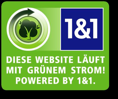 Logo 1und1 mit grünem Strom